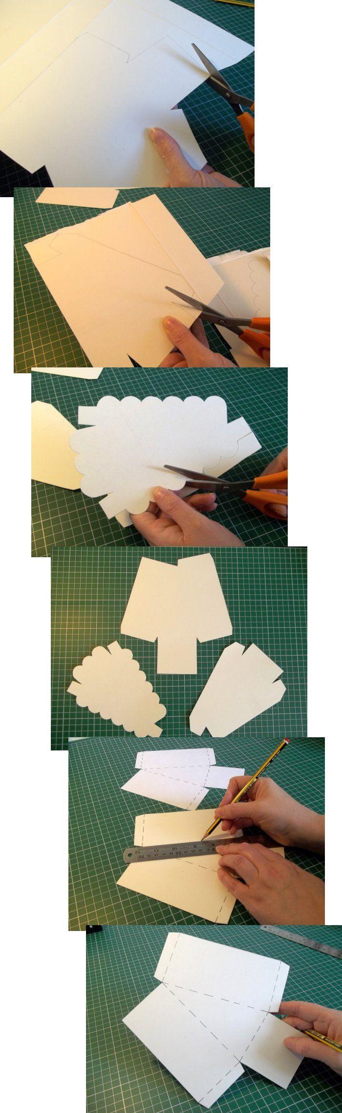 Origami Birthday Cake Slice Instructions