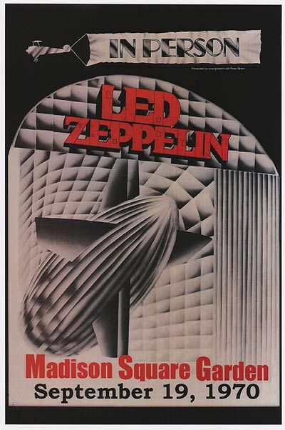 Led Zeppelin - September 19th, 1970 - Madison Square Garden, New York, NY - Concert Poster