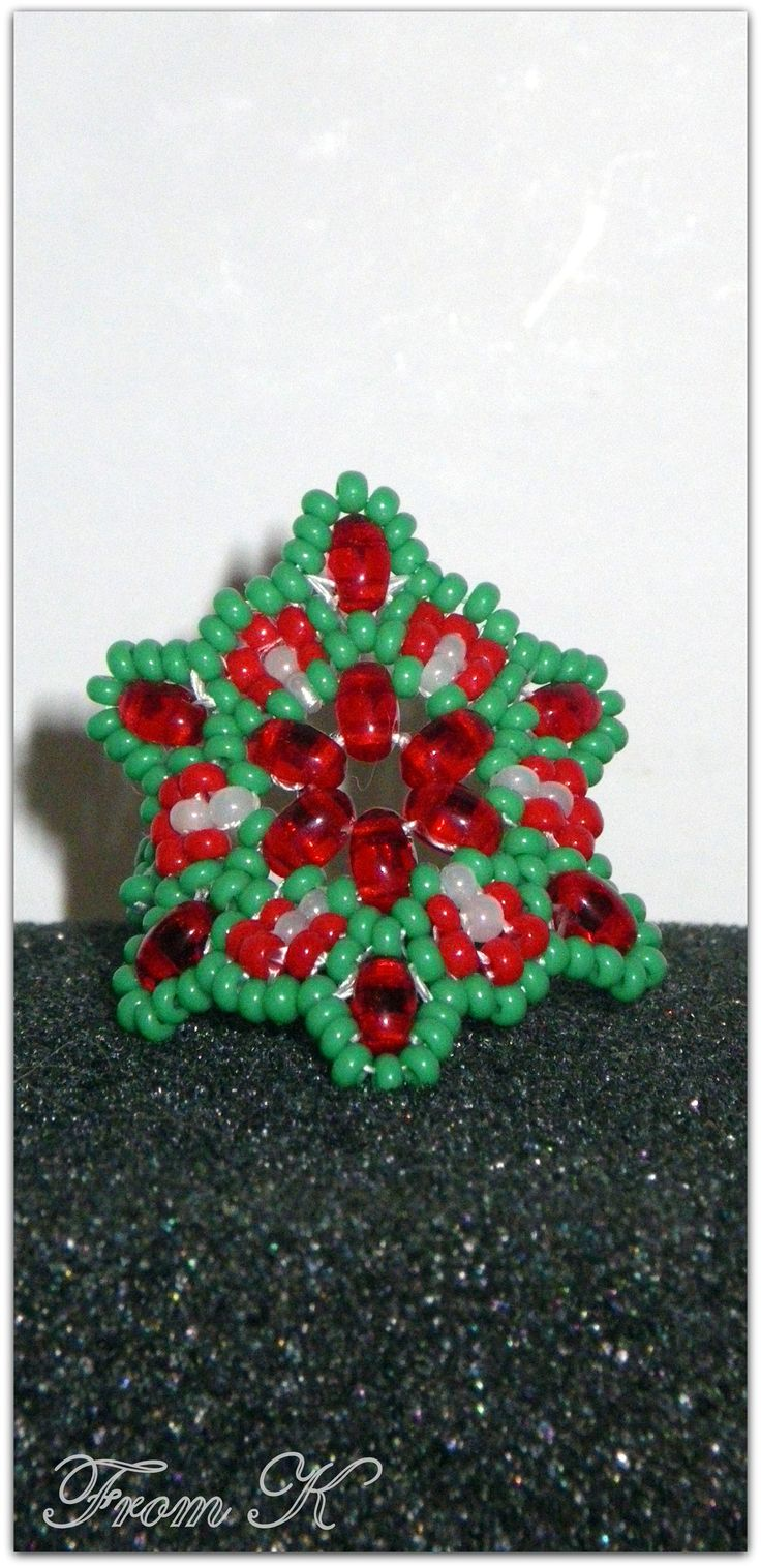 Special for Christmas season. Czech sand and twin beads are used. For more photos, prices and other info, please visit my facebook page https://www.facebook.com/media/set/?set=a.255836934442612.81617.246629745363331&type=3