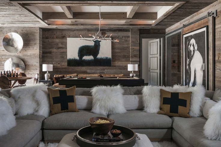 Exposed wooden beams makes the room feel rural and comfortable