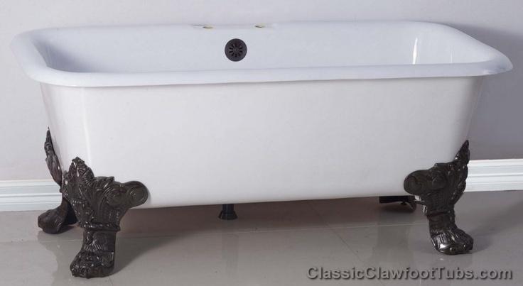 Square Tub Bathtub With Bear Claw Feet Clawfoot