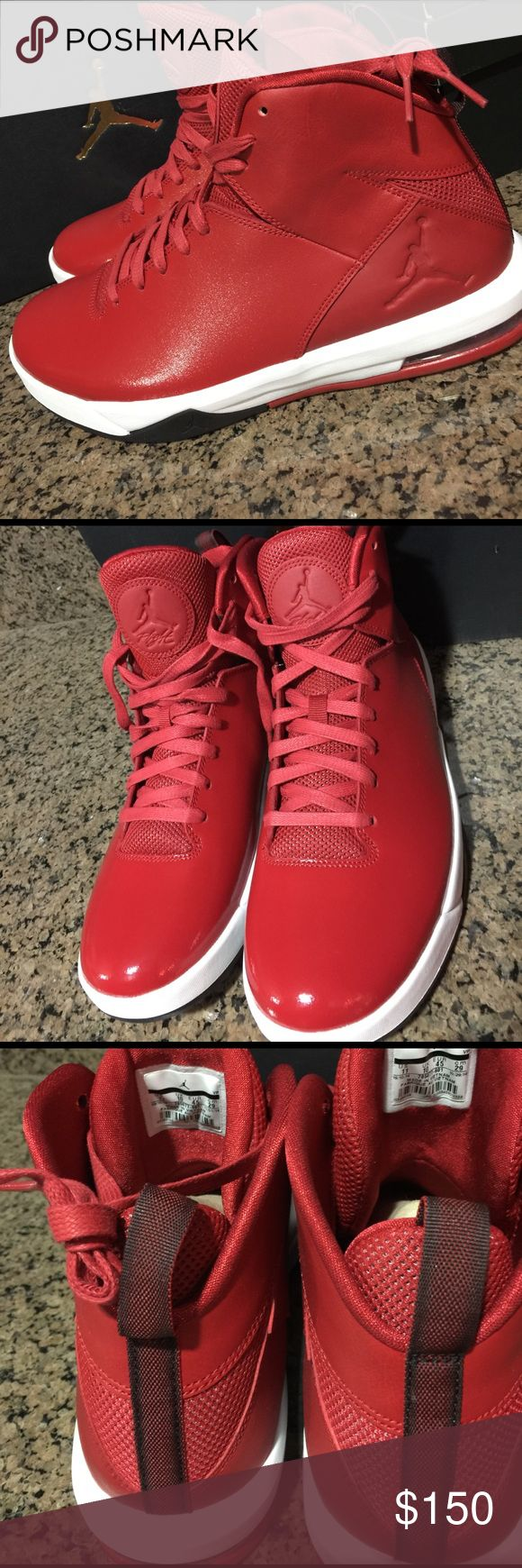 New Jordan Air Imminent - Red - Size 11 Brand new. PRICE IS FIRM. Have a Jordan box but it didn't came in original box with sticker of the style, box must have gotten mixed up. I have same in black listed as well. Purchased as gift before traveling overseas but unable to travel now and too late to return Jordan Shoes