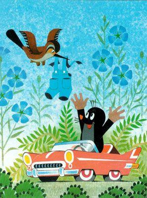 Krtek the mole! A favourite tale from childhood. Kuidas vaike mutt uued puksid sai...(?)