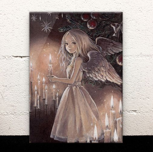 Silent Night Acrylic Art Board by Izmi Toyoda