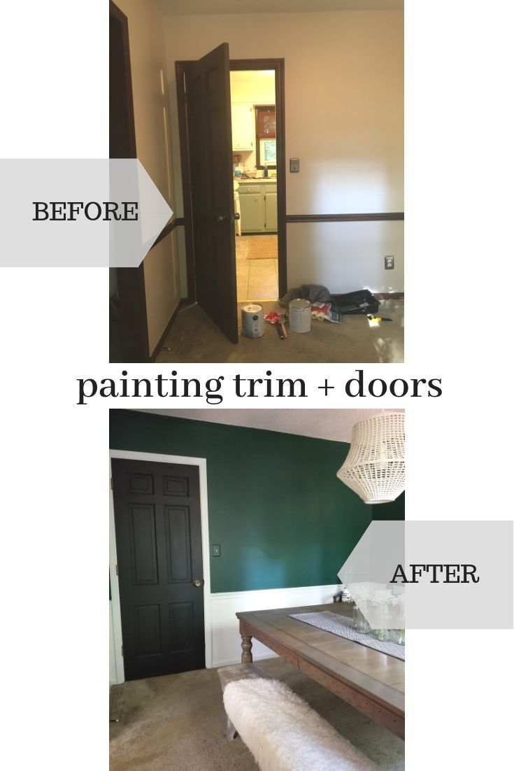 Painting The Trim In This Dining Room And Painting The Doors Black