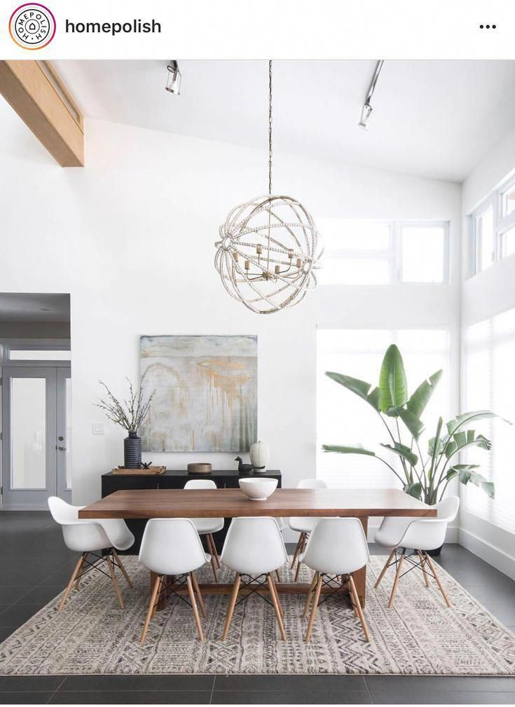 Nordic Industrial Style Dining Table In Living Room Diningroomdecor Minimalist Dining Room Modern Dining Table Mid Century Dining Room