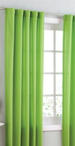 lime green curtains your zone microfiber panels set of 2