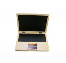 Wooden Laptop Chalkboard