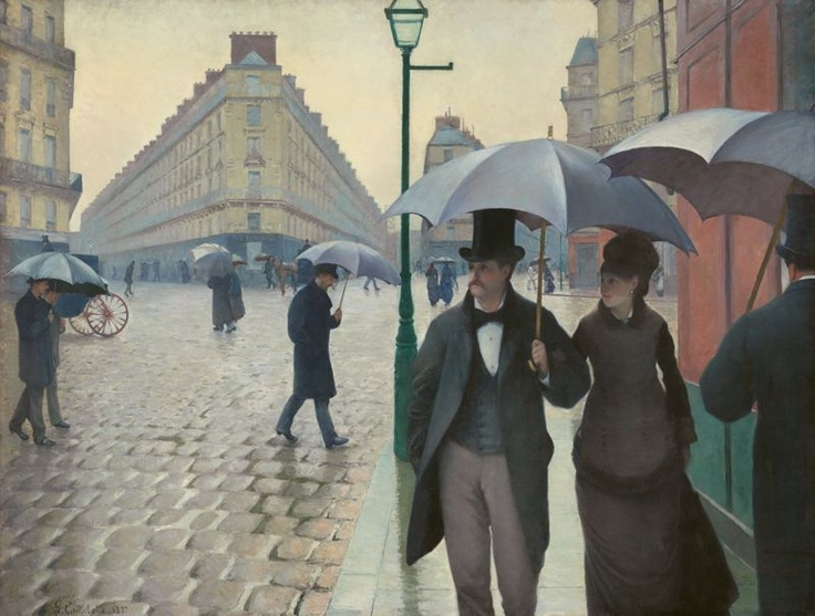 Gustav Caillbotte, Paris Street, Rainy Day... I love this, love this, love this.  A different time and a different place... and the guy looks like Woody Harrelson?