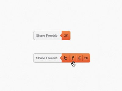 Share Button by Patrik Larsson (link to 40 Innovative UI Concepts from Dribbble)