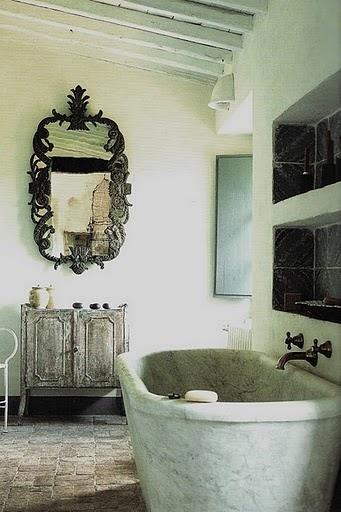 Love this mirror & tub: Bathroom Design, Mirror, Interior, Idea, Bathtub, Dream House, Beautiful Bathrooms