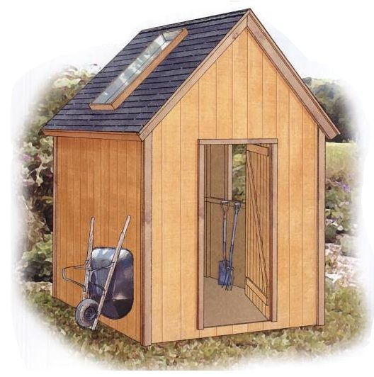 Download a free 8 x 10 garden shed plan with step by step for Simple garden shed designs