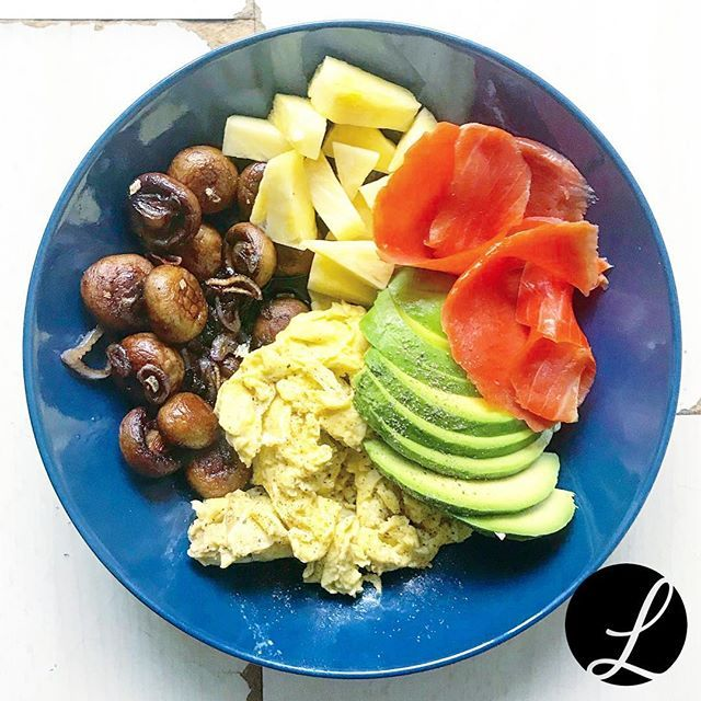 Reposting @peanutqueen83: Another breakfast bowl with some scrambled eggs, lox, fried mushrooms, avocado and fresh pineapple 👍🏻💪🏻😋 . . . . #breakfast #breakfastbowl #paleo #pescatarian #protein #fresh #avocado #scrambledeggs #mushrooms #lox #pineapple #vitamins #healthylife #healthyfood #begoodtoyourself #loveyourself #yummy #food #foodporn #instafood #instagood