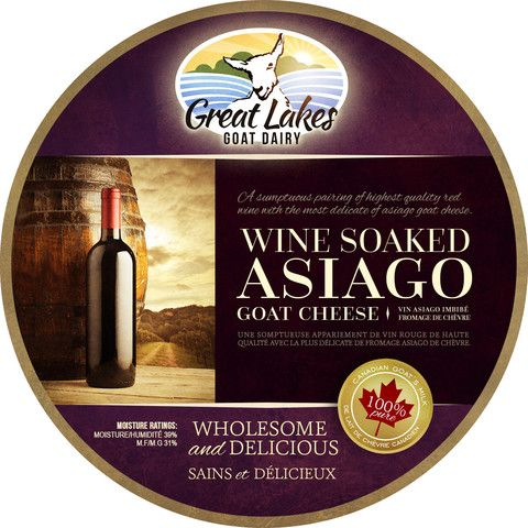 Wine Soaked Asiago Goat Cheese – Great Lakes Goat Dairy