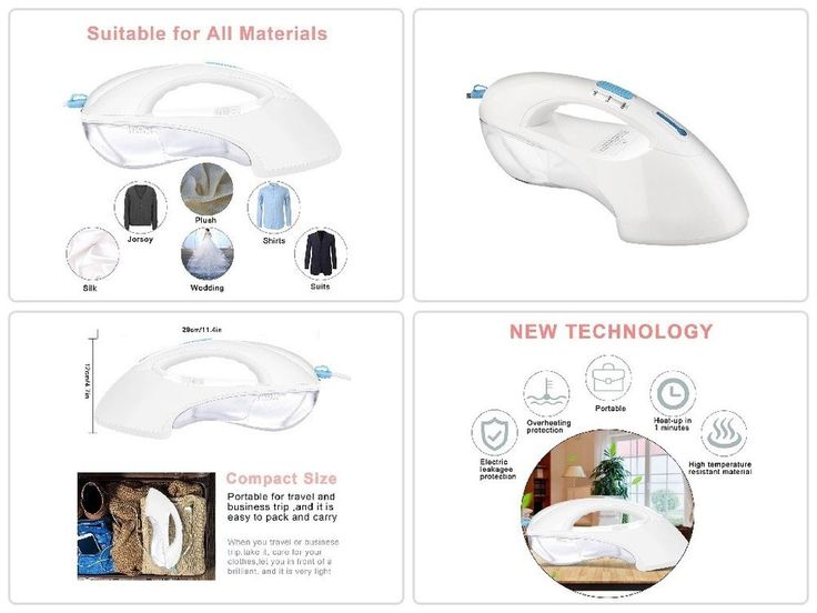 Handheld #Travel #Home Iron #Steamer for #Clothes Portable #Garment #Fabric #Cleaning