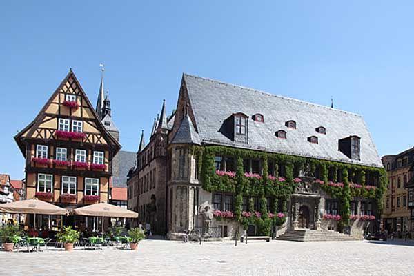 Quedlinburg - Markt mit Rathaus