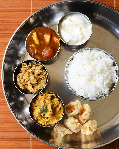 South Indian lunch combo