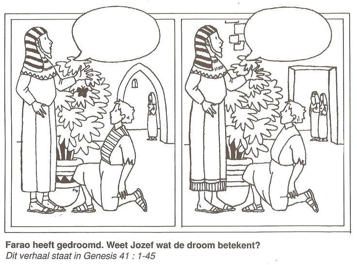 Farao heeft gedroomd weet Jozef wat de droom betekent? zoek de 10 verschillen