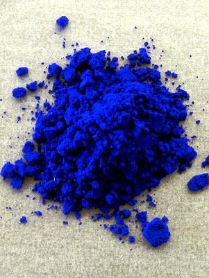 Variações de um pigmento azul foram desenvolvidos na Universidade Estadual do Oregon . Foto: The New York Times