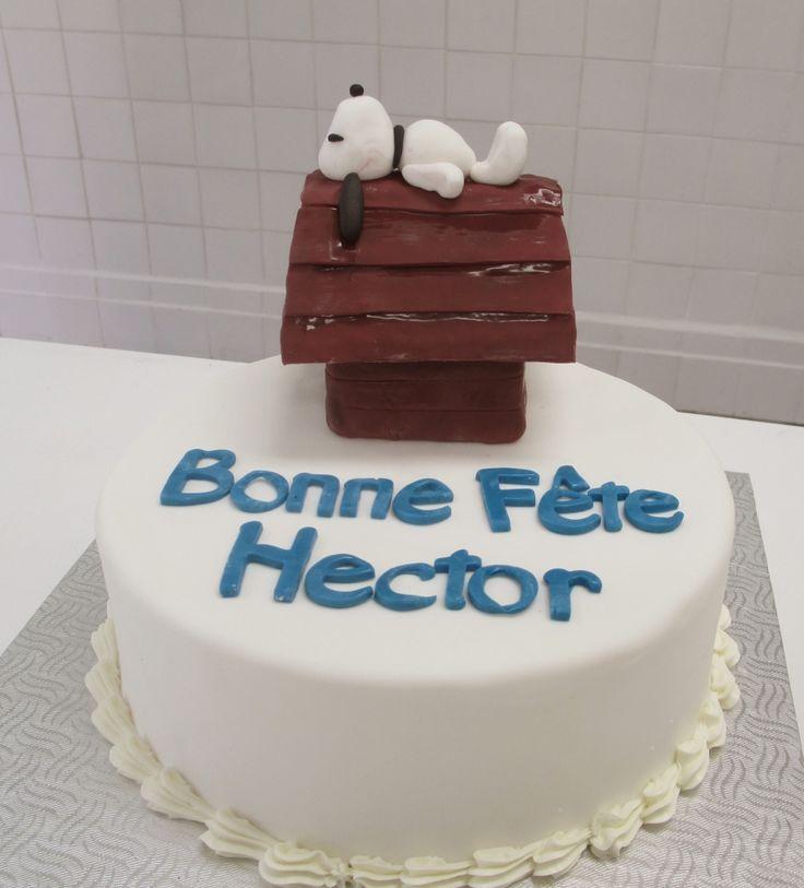 Gâteau Snoopie - (www.mllesgateaux.com)