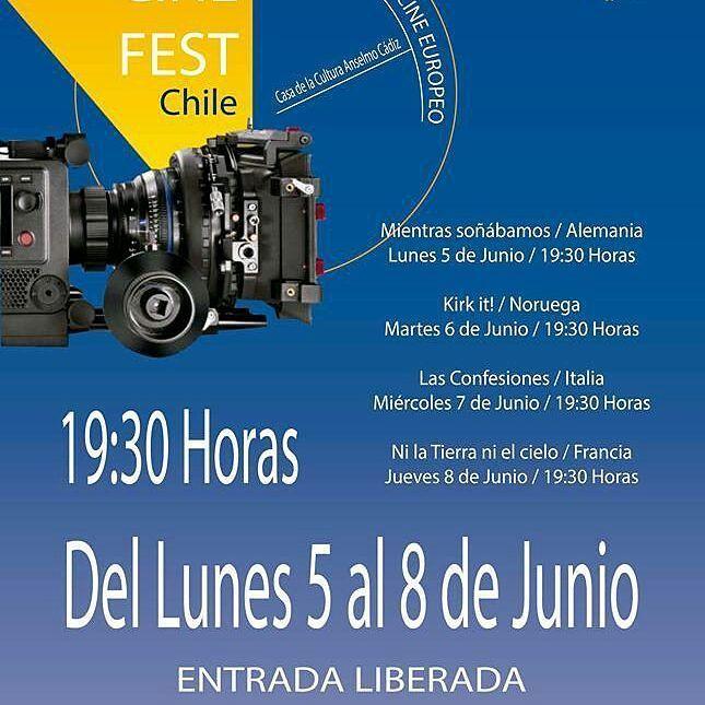 Hoy a las 19.30 hrs sigue el 19 Festival de Cine Europeo No faltes!
