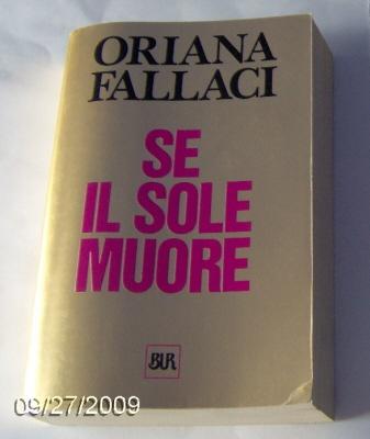 Oriana Fallaci, Se il sole muore