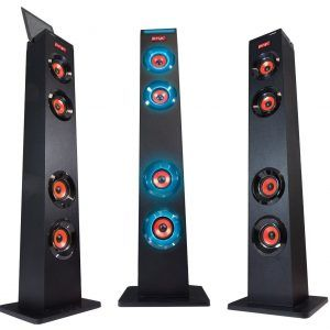 PSYC Torre XL 2.0 Bluetooth Tower Speaker - High fidelity 2.0 audio system with LED lights display