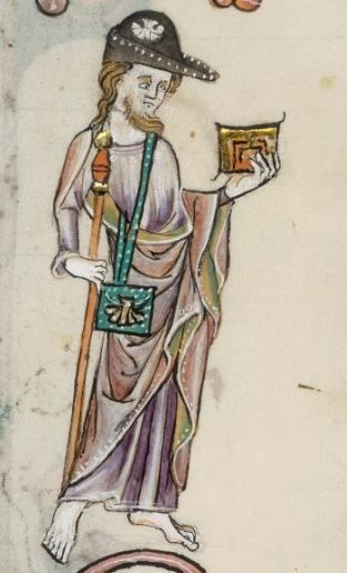 Detail from The Luttrell Psalter, British Library Add MS 42130 (medieval…