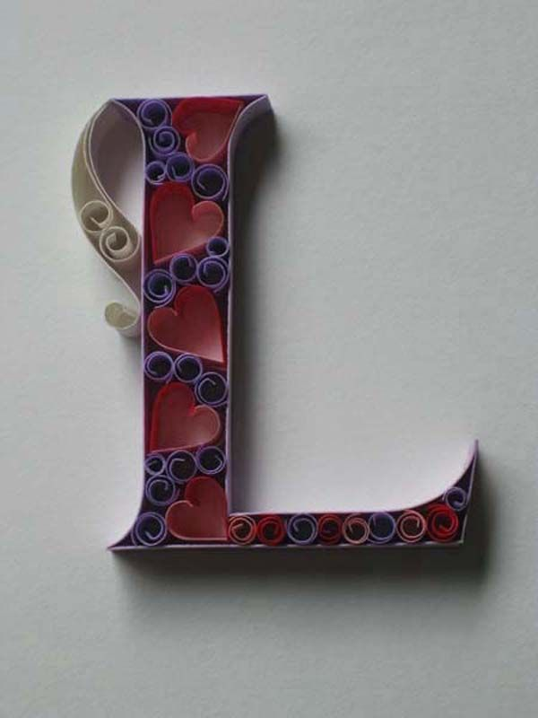 Sabeena Karnik quilled letters: Paper Quilling, Initials Art, Adonai Karnik, Valentines Day Ideas, Letters Art, Typography Art, Projects Galleries, Quilling Letters, Paper Typography