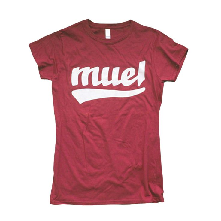 Women's t shirt with old school hand drawn type screenprinted