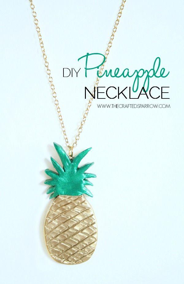 DIY Pineapple Necklace - thecraftedsparrow.com