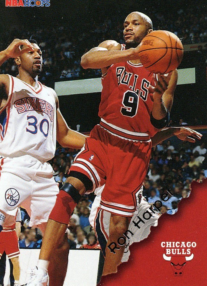 RARE 96/97 SKYBOX NBA HOOPS RON HARPER CHICAGO BULLS MINT #ChicagoBulls