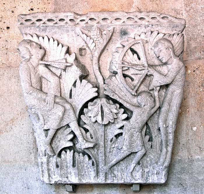 Cain and Abel, Autun Cathedrall, Autun, France, 12th c.