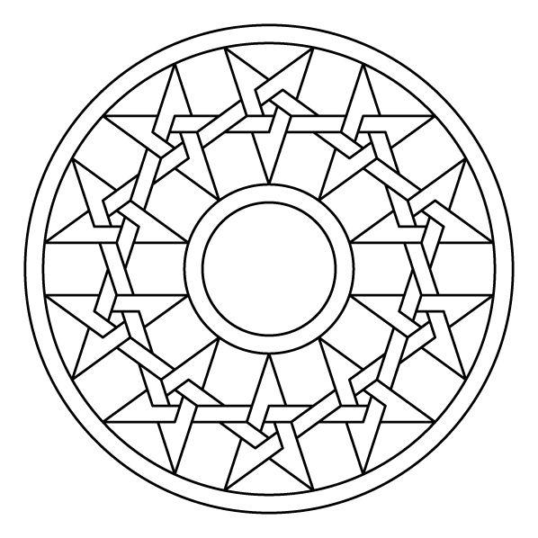 Celtic knot-work pentastar circle mandala by Peter Mulkers