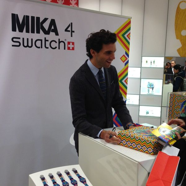 Mika at the Swatch signing in Paris Nov 19 2013