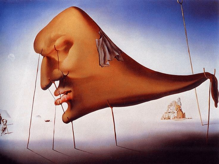 Sleep - Le Sommeil, 1937, Salvador Dali