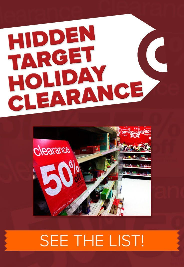Look for this Hidden Target Clearance starting Dec.26th, tons of savings! See the list-->