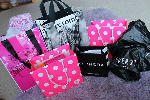 i went shopping and here's some of our bags! :)