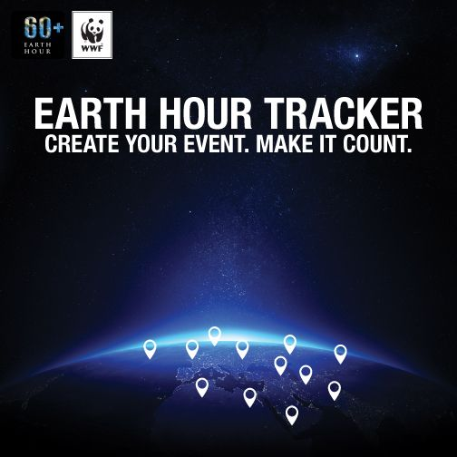 Create your own #EarthHour event at http://ehour.me/EHtracker today!