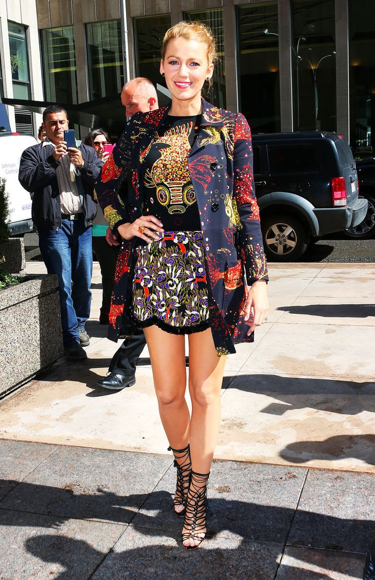 Blake Lively wore a staggering eight outfits today. Get the breakdown on each and every look.