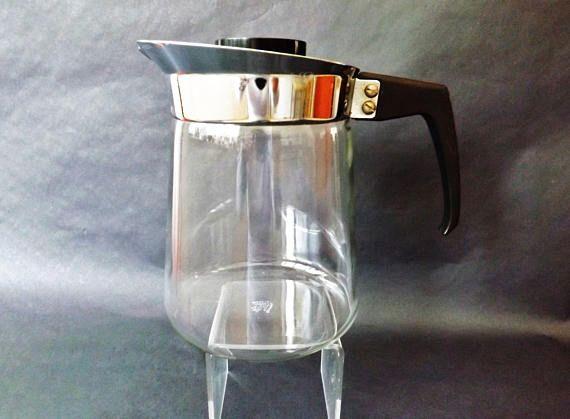 Vintage JAJ Pyrex Coffee Pot Midcentury Coffee Carafe Glass