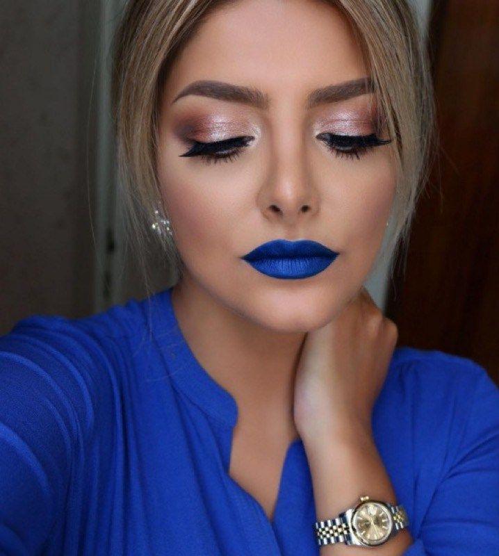 ClioMakeUp-rossetto-blu-look-come-indossarlo-abbinamenti-Comunque le ragazze scure non sono le uniche che possono permettersi il rossetto blu, sia chiaro!