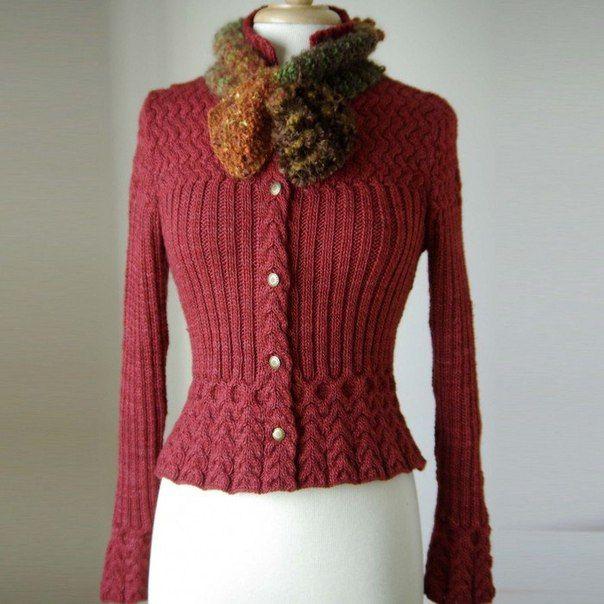Beautiful cardigan. Need a translation of the pattern....