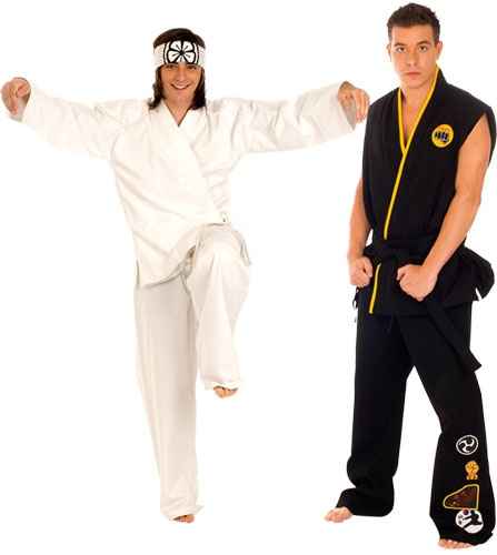 Karate Kid Daniel and Johnny Costumes (costume idea for twin boys, 2 guys, etc.)