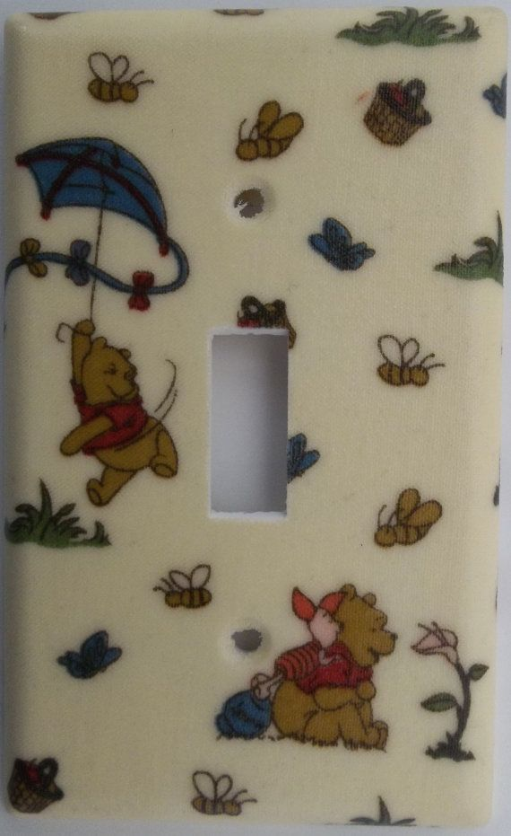 Disney Winnie The Pooh Bear Childrens Bedroom Bathroom Light Switch Outlet  Wall Home Decor Kids Boys