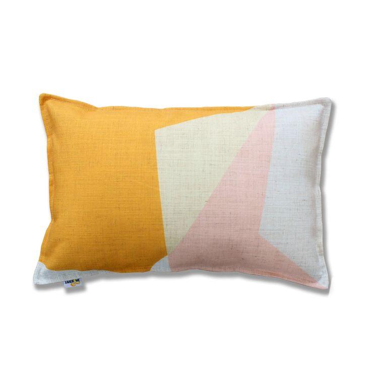 Abstract Cushion - Yellow | $132.00