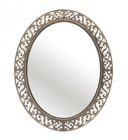 PL WALL MIRROR IN ANTIQUE GOLDEN COLOR 60X8X70