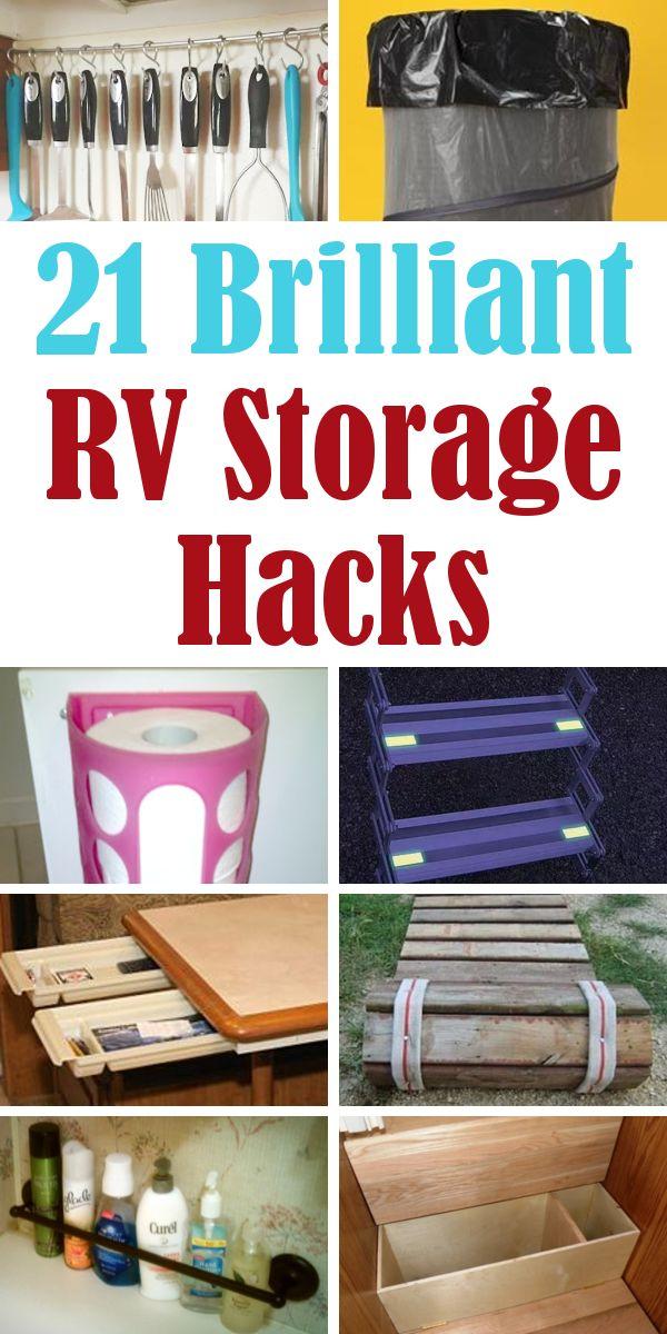 21 Brilliant RV Storage Hacks