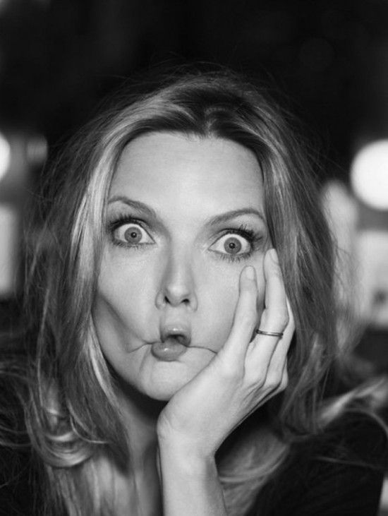 Michelle Pfeiffer funny face