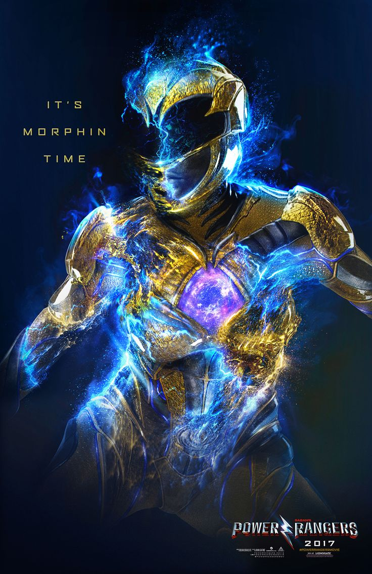 "Personal Project for the new Power Rangers Character Key Art Posters. Inspired by "" Morphin Time "" scene as seen on the official movie trailer."